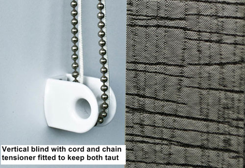 Make it safe - vertical blind cord and chain tensioner - Marla