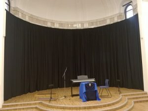 Full length stage curtains