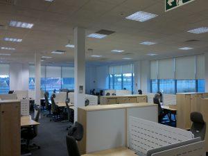 Anti glare office roller blinds