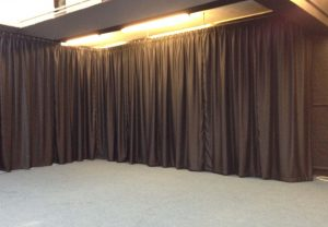 Drama room blackout curtain