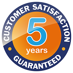 5 year guarantee logo