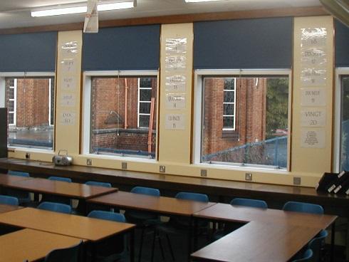 Classroom Roller Blinds