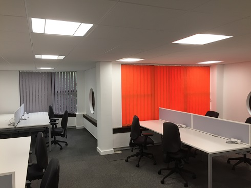 Coloured Commercial Vertical Blinds