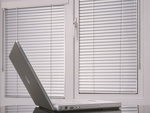 Silver Venetian Office Blinds