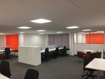 Open Plan Office Vertical Blinds