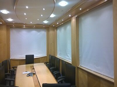 Boardroom Electric Blackout Roller Blinds
