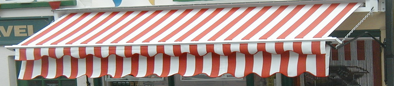 Stripe canopy awning