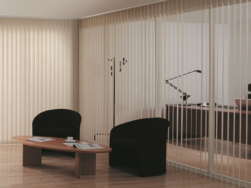 Reception Vertical Blinds