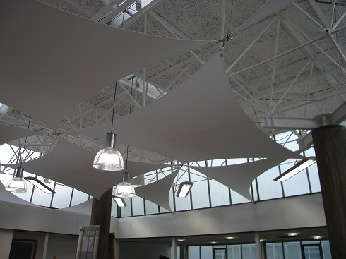 Atrium commercial sail blinds