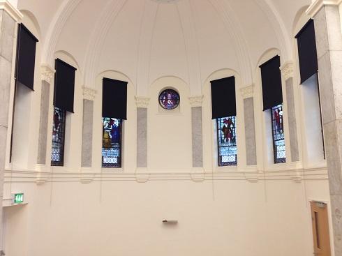St Annes chapel blackout blinds